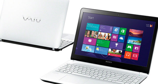 Ноутбук Sony VAIO SVF1521F1RW белый